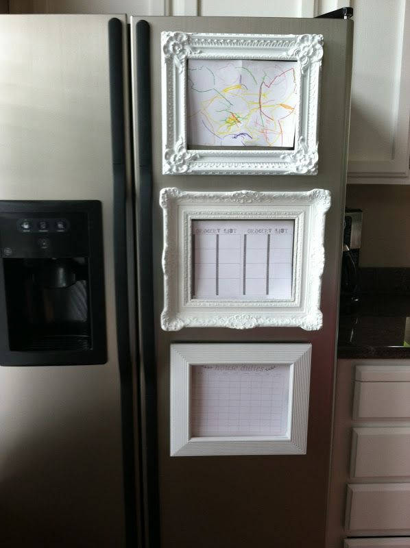 Magnetic Frames On The Fridge Fun Way To Display Kids Art So Much