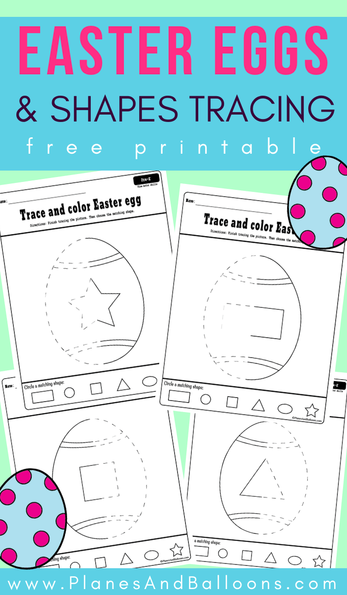Easter Eggs And Shapes Tracing Worksheets Free Printable Easter Lesson Plans Preschool Easter Lessons Plans Spring Lesson Plans [ 1200 x 700 Pixel ]