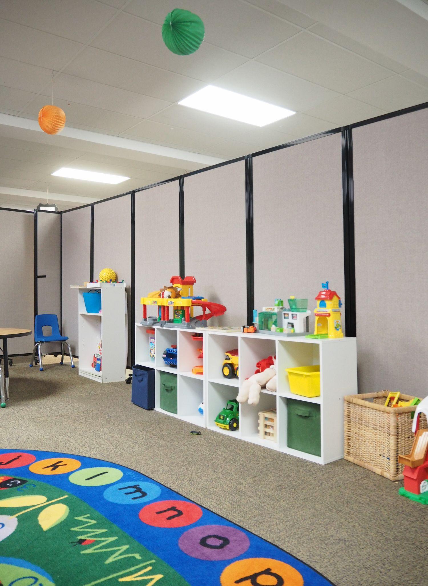 divide and create classroom space at awaken community church rh pinterest com