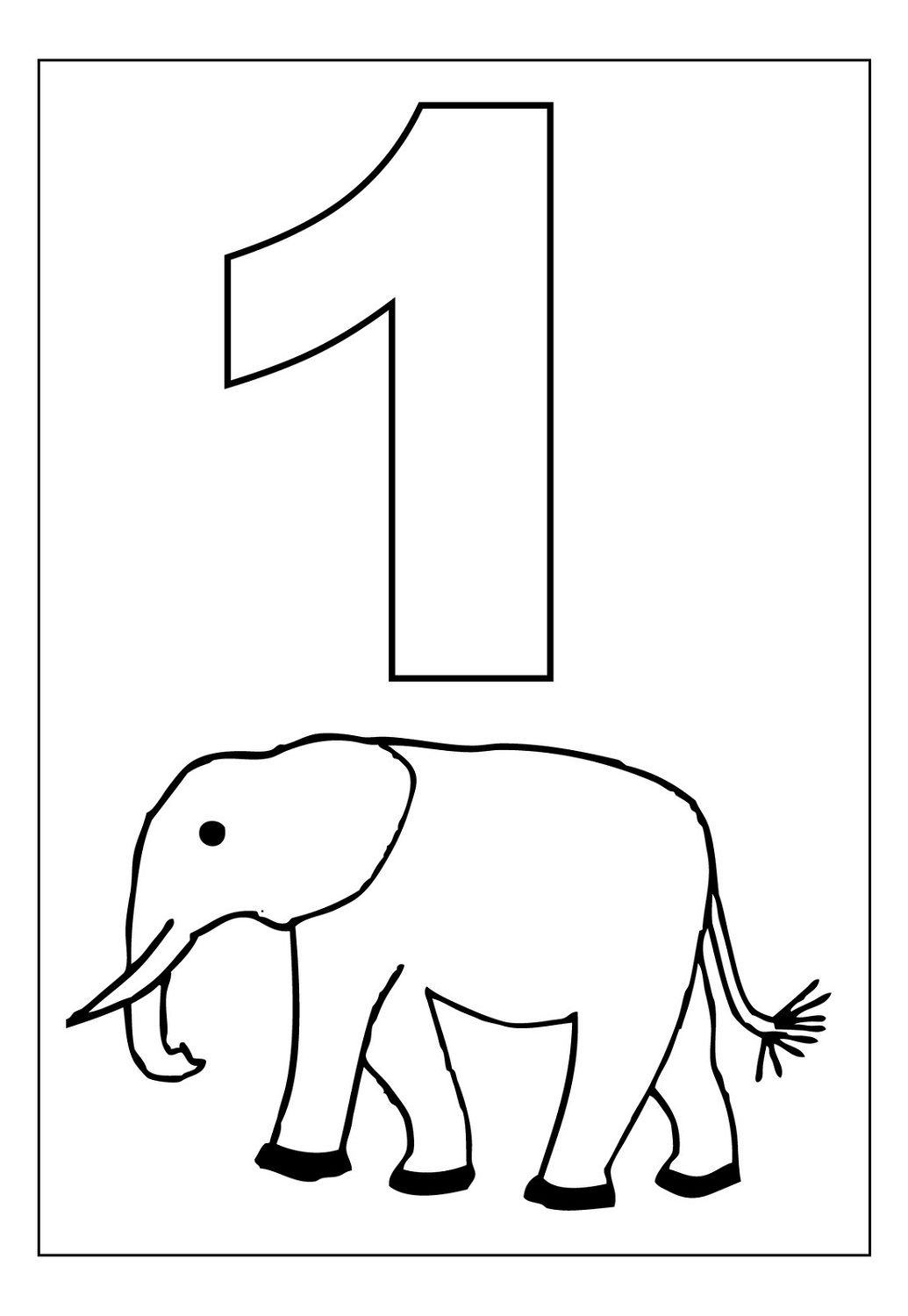 Printable Animal Number Coloring Pages Numbers 1 10 Preschool