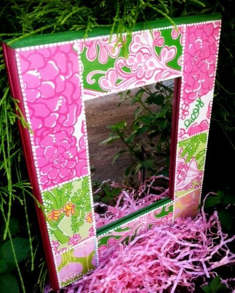 Patchwork Lilly Pulitzer Mirror   Lilly fun   Pinterest   Quince ...
