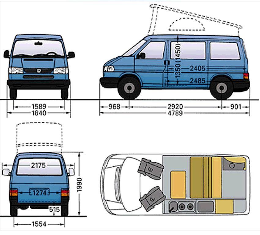 afmetingen vw t4 850 766 volkswagen california pinterest volkswagen and vw. Black Bedroom Furniture Sets. Home Design Ideas