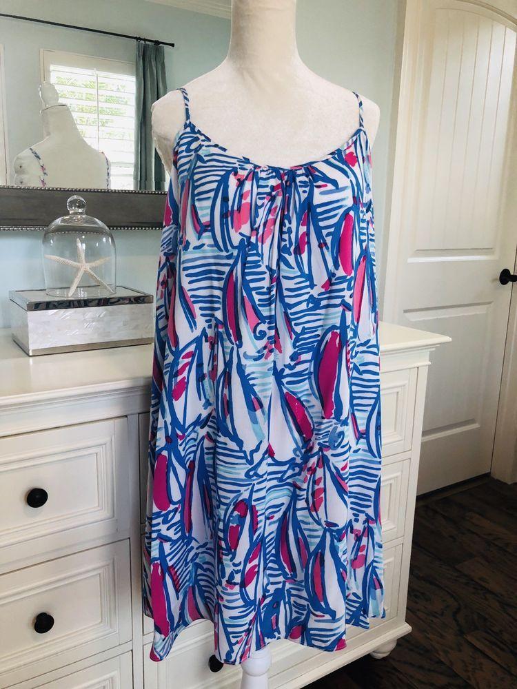 c42b1b24573679 NWT Lilly Pulitzer Red Right Return Daphne Trapeze Dress sailboat nautical  Large #fashion #clothing
