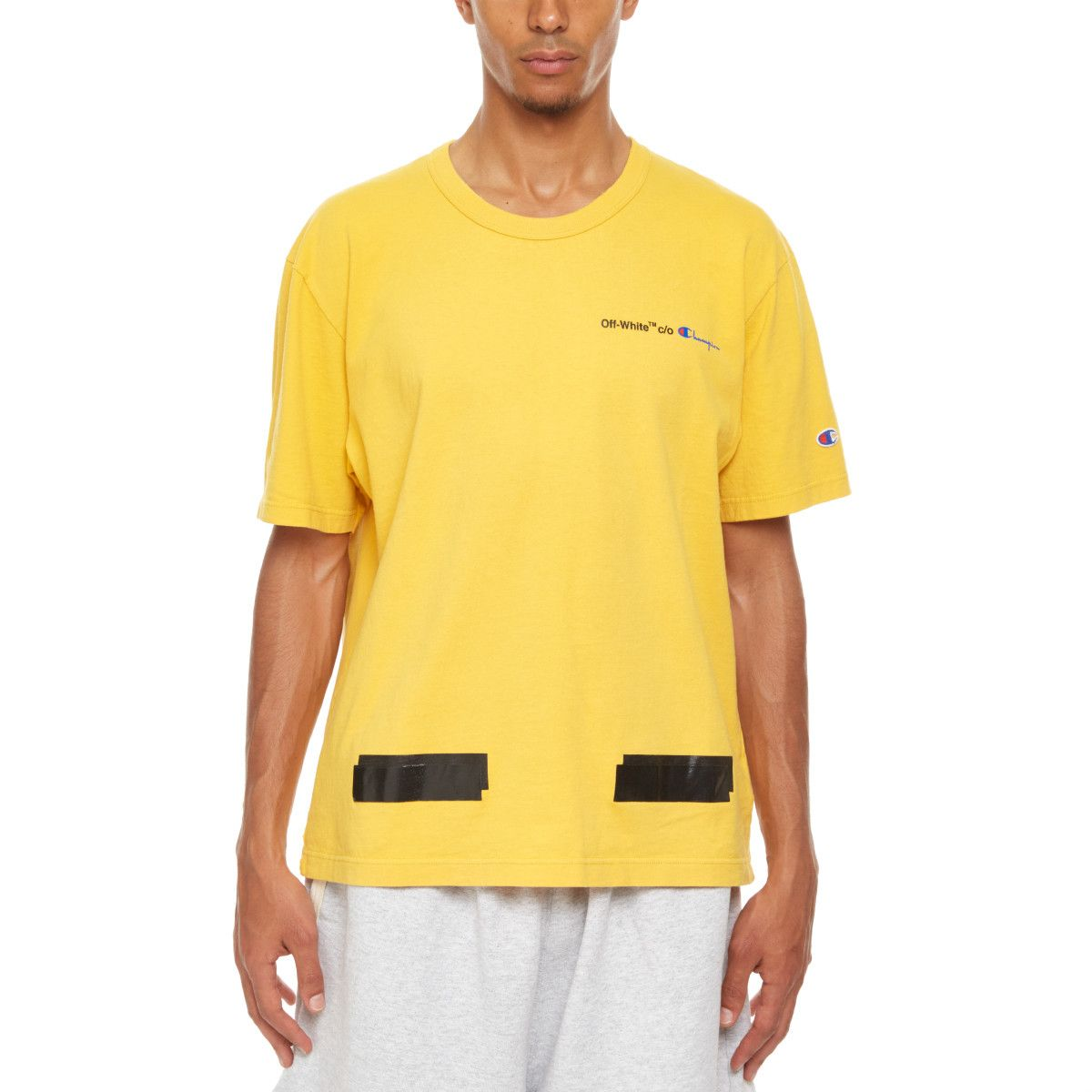 ff19e02f Champion t-shirt from the S/S2018 Off-White c/o Virgil Abloh collection in  yellow