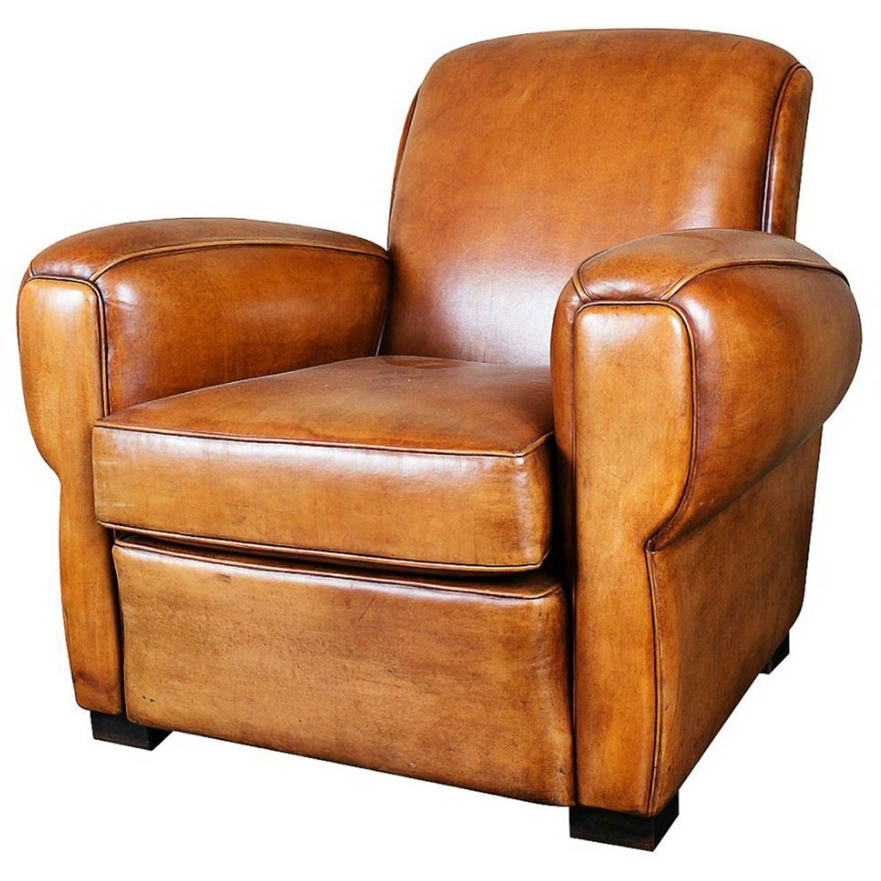 french art deco leather club chair in 2019 furniture leather rh pinterest com