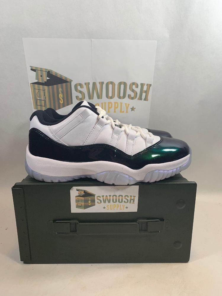 premium selection 1c2d0 74f81 Nike Mens Air Jordan 11 Retro Low Easter White Emerald Rise 528895-145 Size  8.5