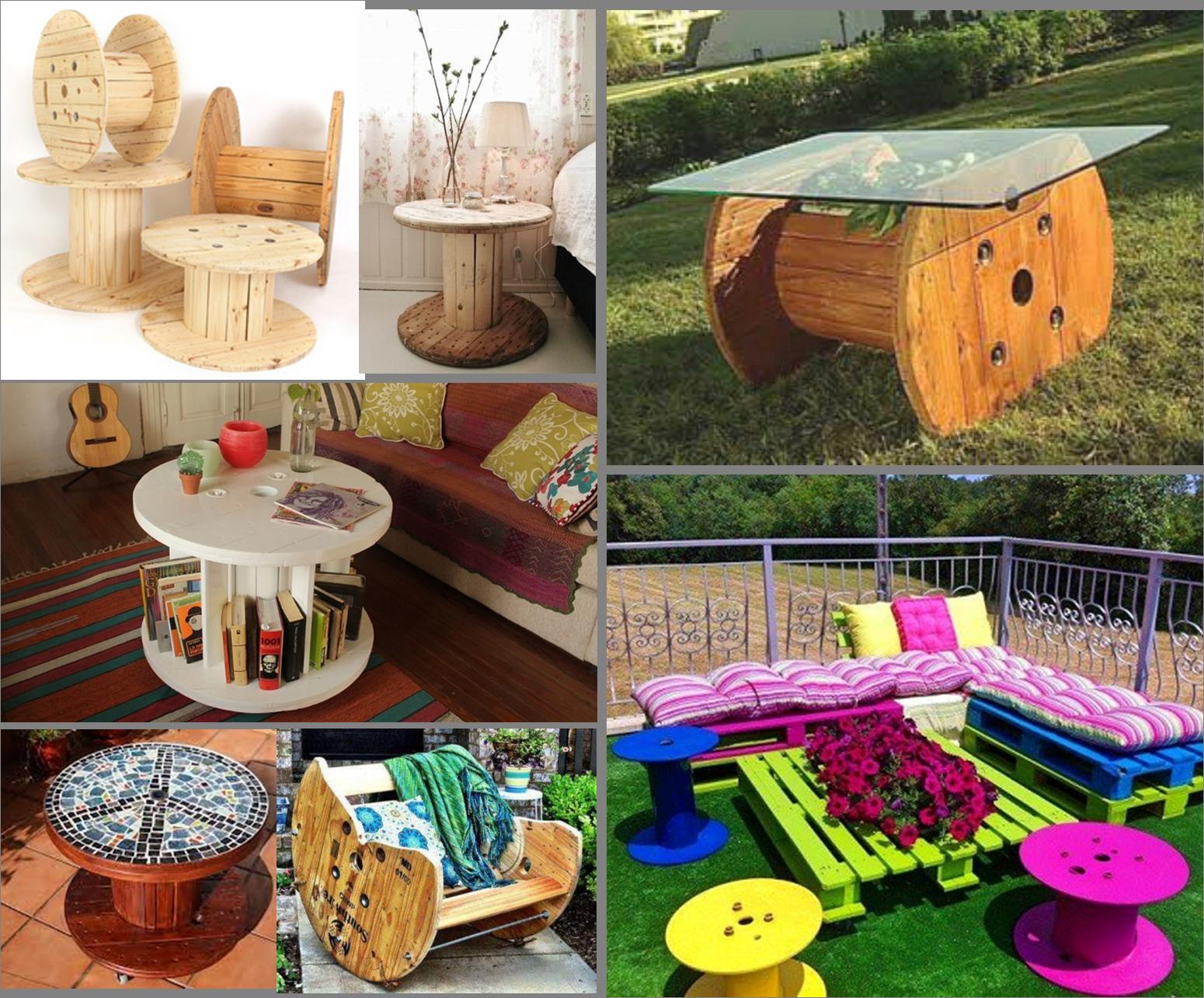 6 ideas para reutilizar bobinas de madera para cables es for Muebles de jardin de madera