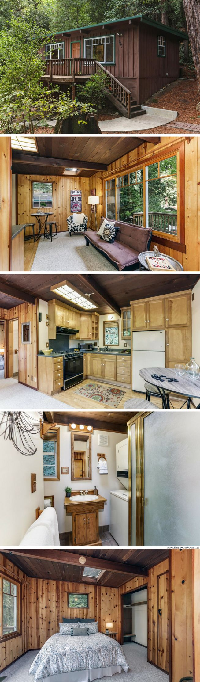 a 420 sq ft cabin in ben lomond california small house living rh pinterest com