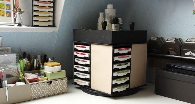 bastelzimmer aufbewahrung stempelkissen stempelkissen turm diy kreativeslischen pinterest. Black Bedroom Furniture Sets. Home Design Ideas