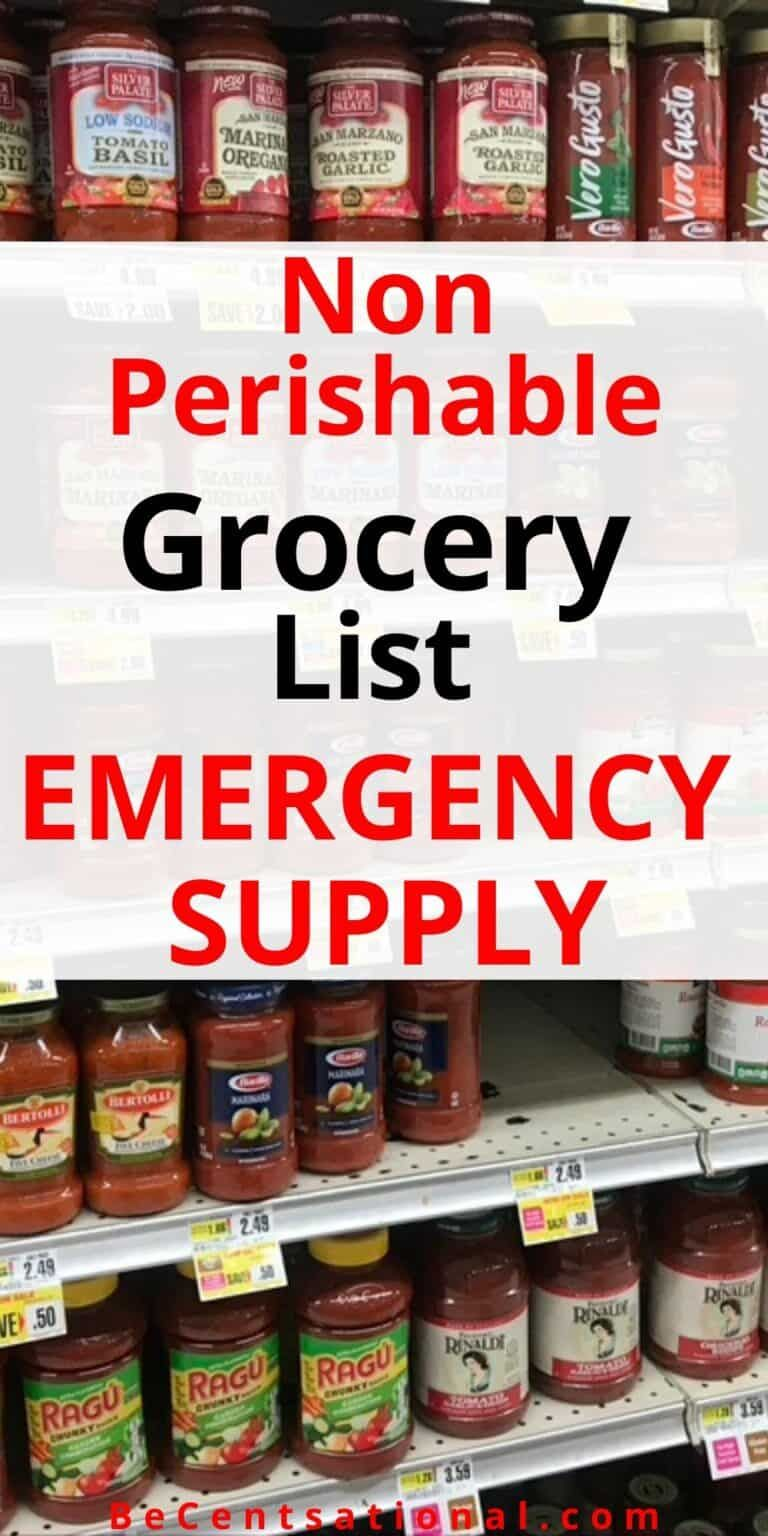 How to stock on food for an emergency Be Centsational in
