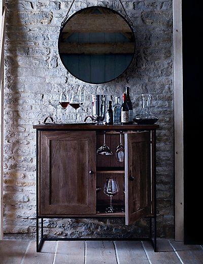 Sanford Parquet Drinks Cabinet CabinetBar CartsDining Room