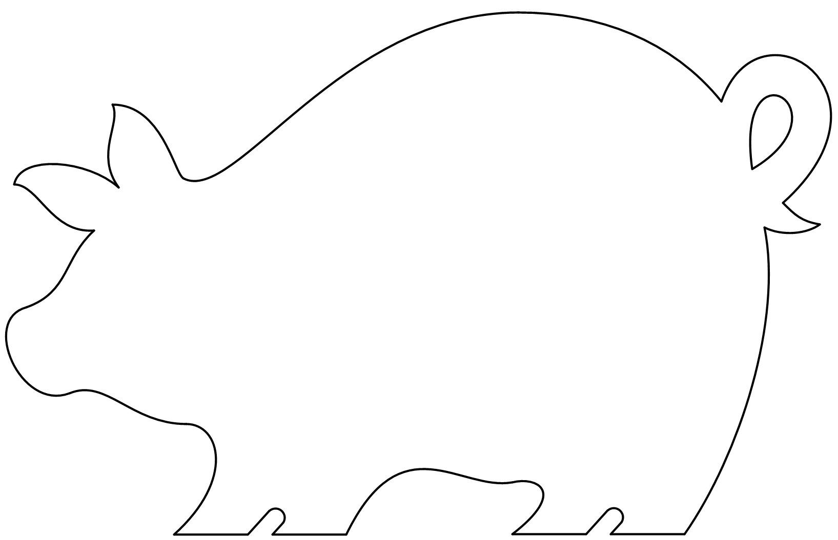 cut out farm animal patterns puzzle template 6 pieces clipart