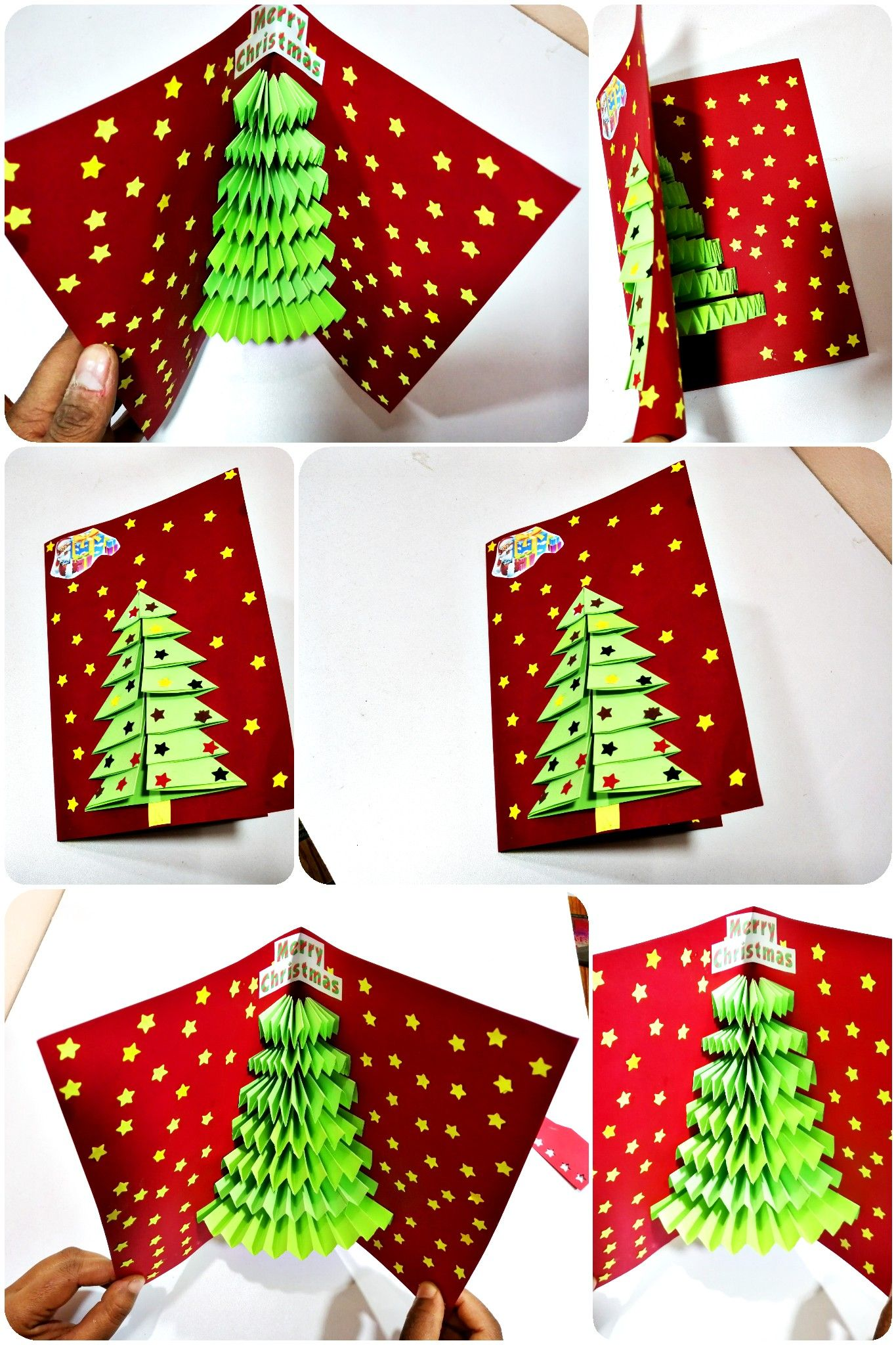 Pop Up Card Banane Ka Tarika 3d Card Diy Tutorial Christmas