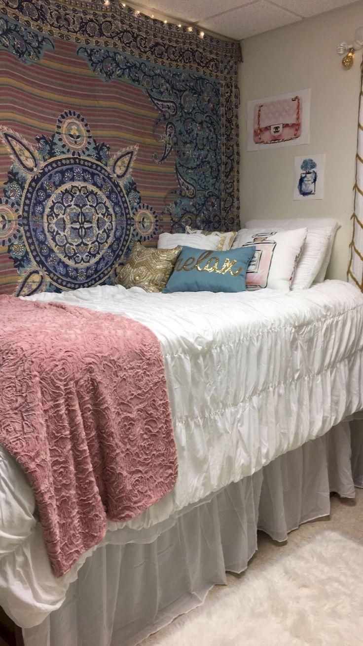 Gorgeous 55 Cool Dorm Room Decorating Ideas