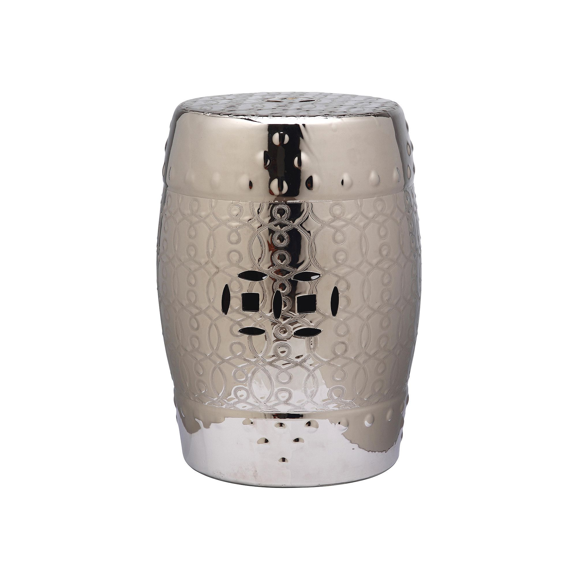 Astonishing Safavieh Lantana Ceramic Garden Stool Silver Furniture In Ncnpc Chair Design For Home Ncnpcorg