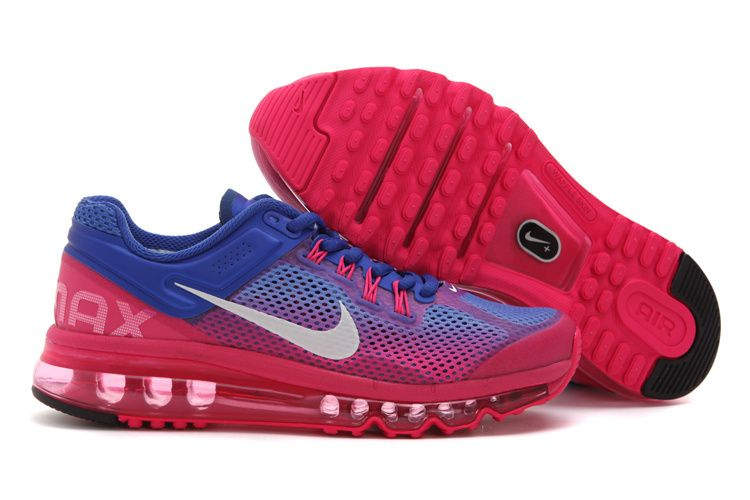womens air max 2013  Nike Air Max 2013 Womens Running Shoe Sapphire Blue  Peach ID 1366