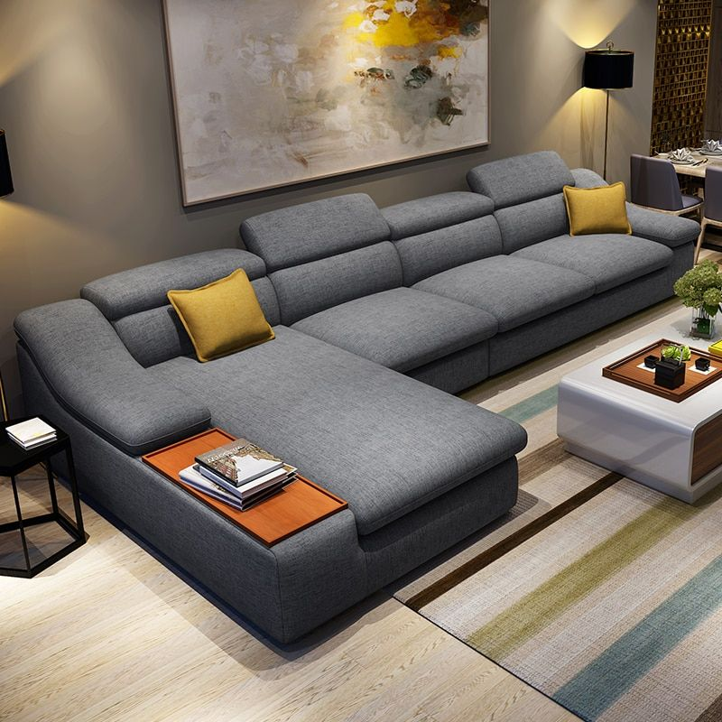 Living Room Furniture Modern L Shaped Fabric Corner Sectional Sofa Set Design Couches For In 2020 Modern Sofa Designs Living Room Sofa Set Modern Furniture Living Room