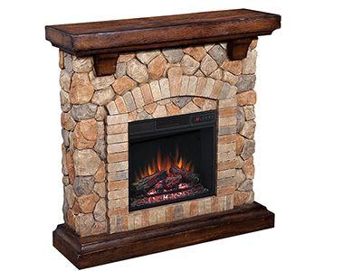 twin star classicflame fieldstone fireplace steinhafels winter rh pinterest com