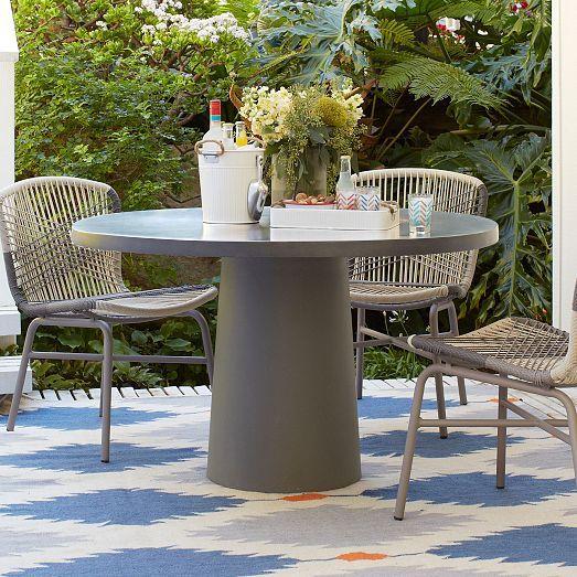 quarry dining set round west elm outdoor furniture round rh pinterest com