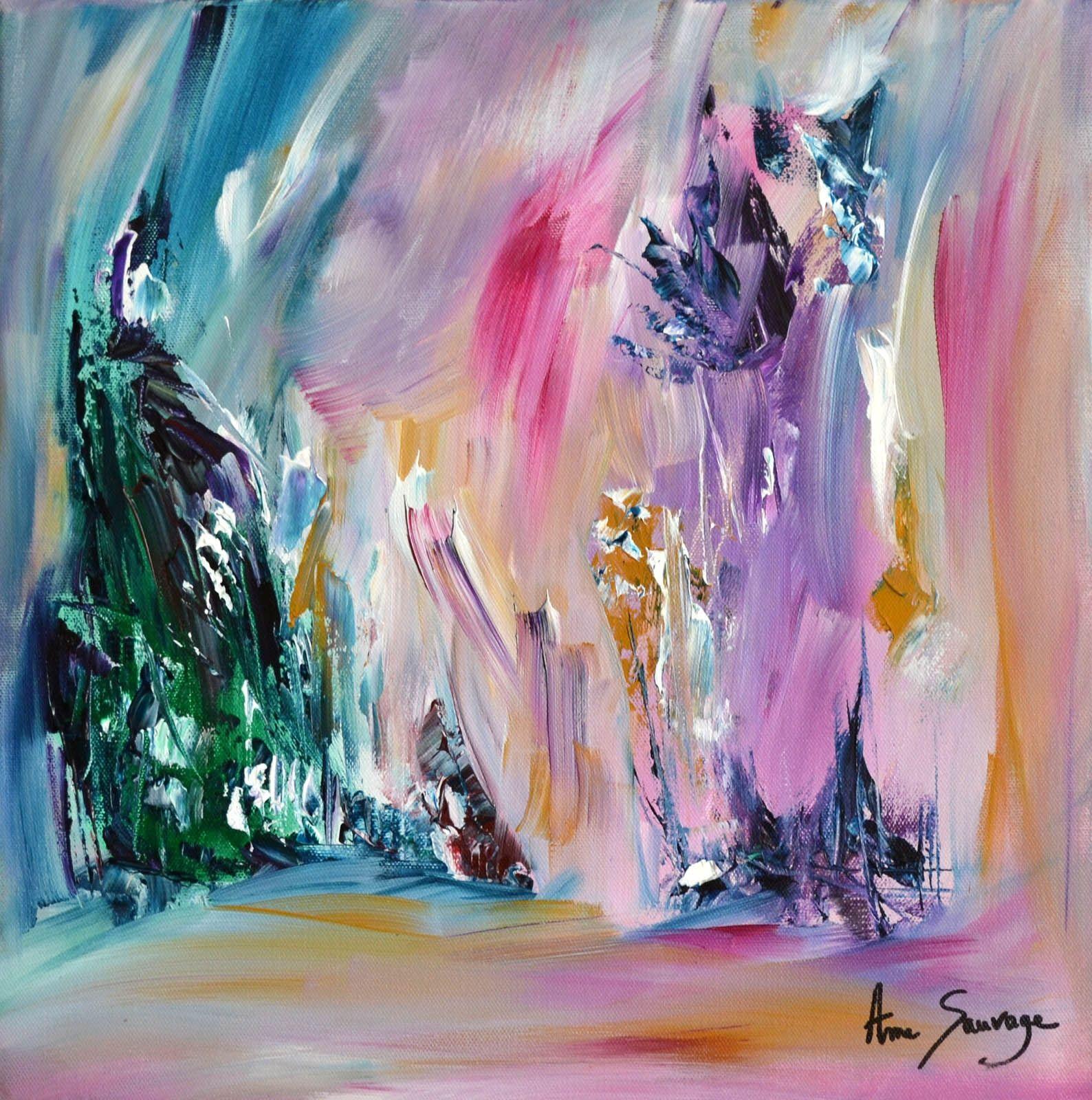 Energie de vie | Tableau abstrait - Peinture abstraite sur toile ...