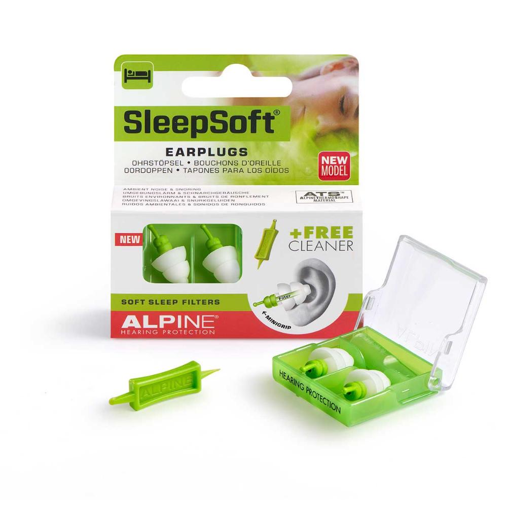 Alpine Sleepsoft With Minigrip Earplugs For Sleeping Block Snoring Sleeping Ear Plugs Earplugs For Snoring Snoring