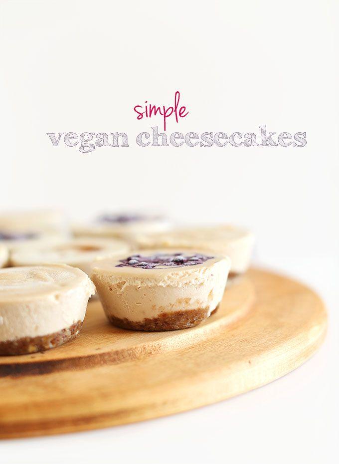 Easy Vegan Cheesecake Minimalist Baker Recipes Recipe Vegan Cheesecake Bites Vegan Cheesecake Food