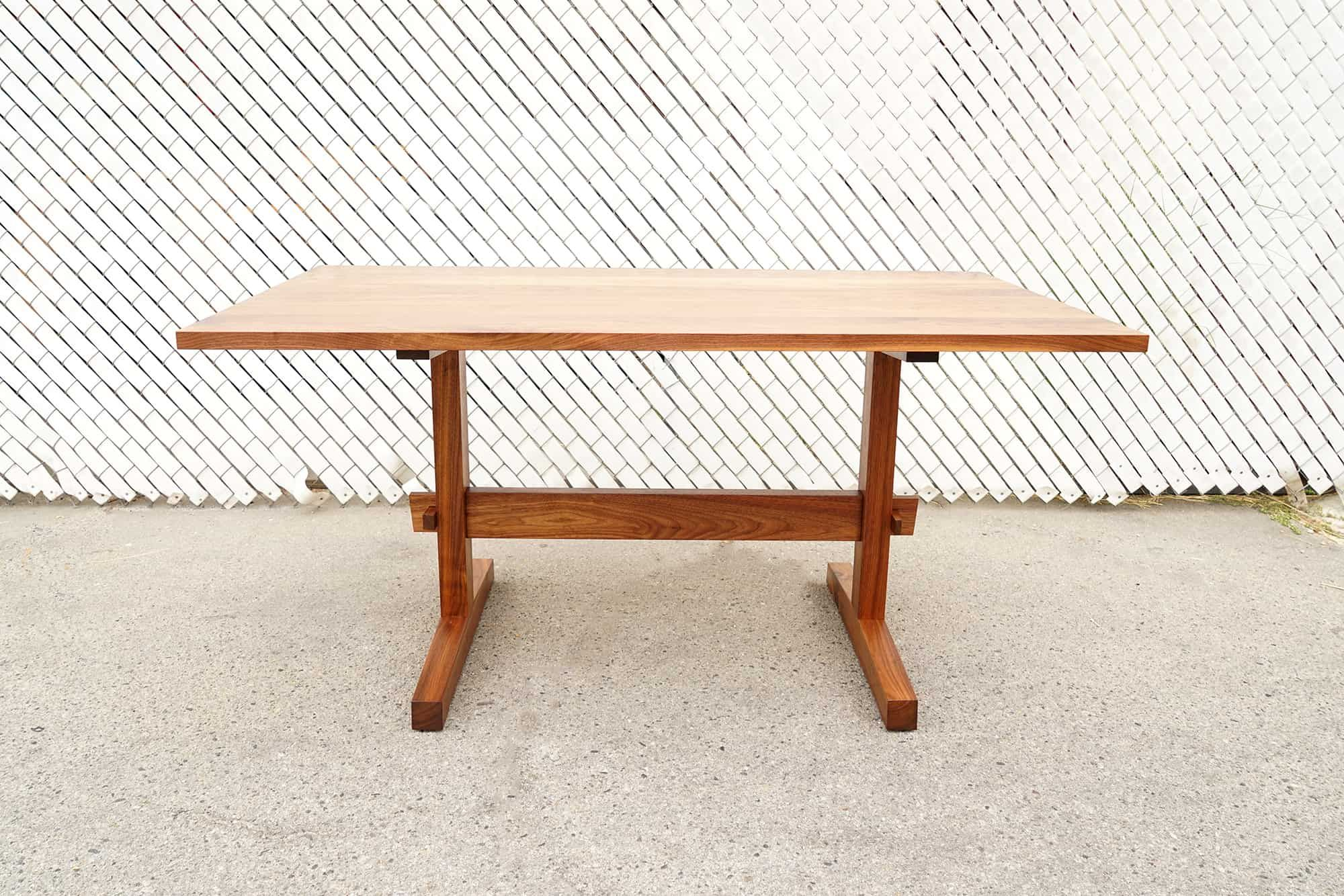 the knock down trestle is a sturdy and versatile table design that rh pinterest com