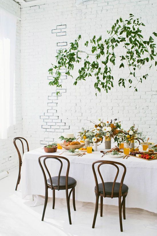 dress up your dining room for fall with these easy table setting rh pinterest com