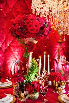 tall red rose centerpiece inspired by disney s beauty and the beast rh pinterest com
