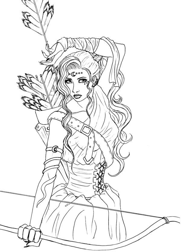 Artemisa Greek Mythology Art Greek Mythology Tattoos Detailed Coloring Pages