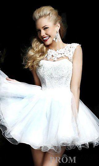 Cheap White Short Prom Dresses - Ocodea.com