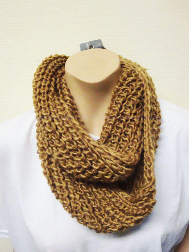 warmer Strick Loop Schal beige