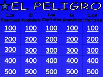Awesome Spanish Jeopardy Game  Culture Grammar  Vocabulary