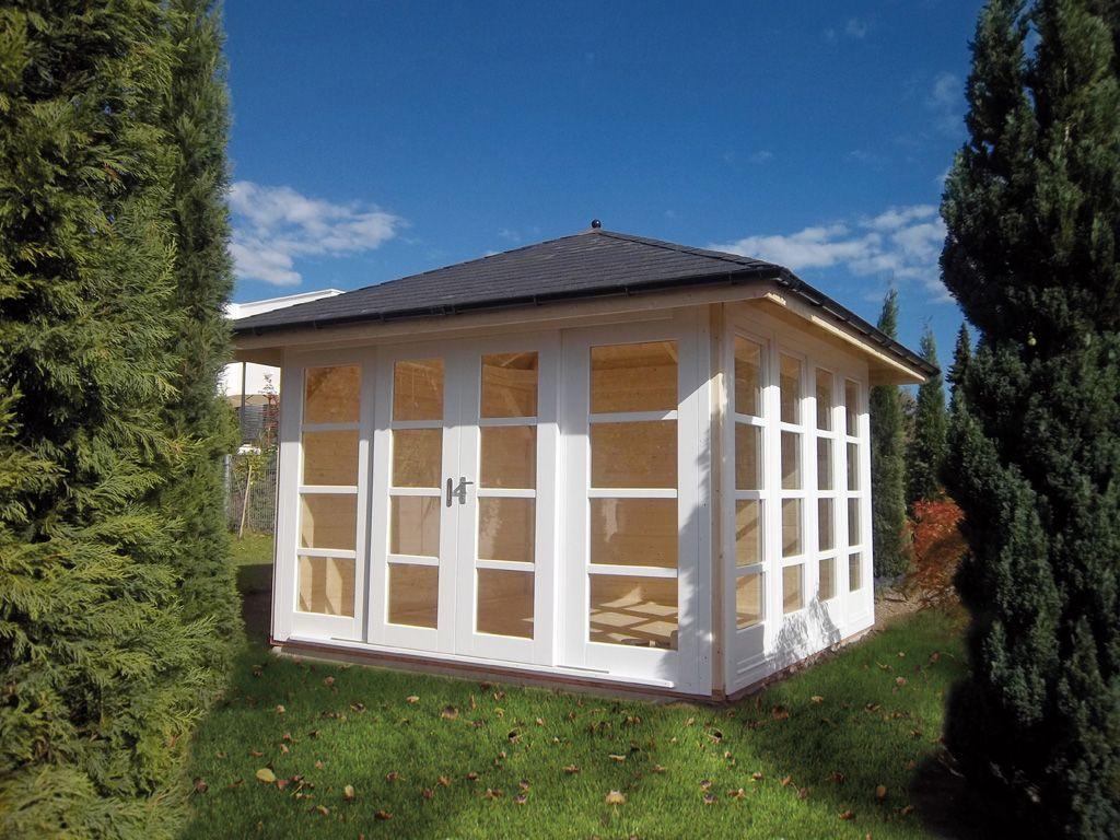 Gartenhaus, Holz, mit Walmdach; 3,4 x 3,4 m, Robert Geiger GmbH