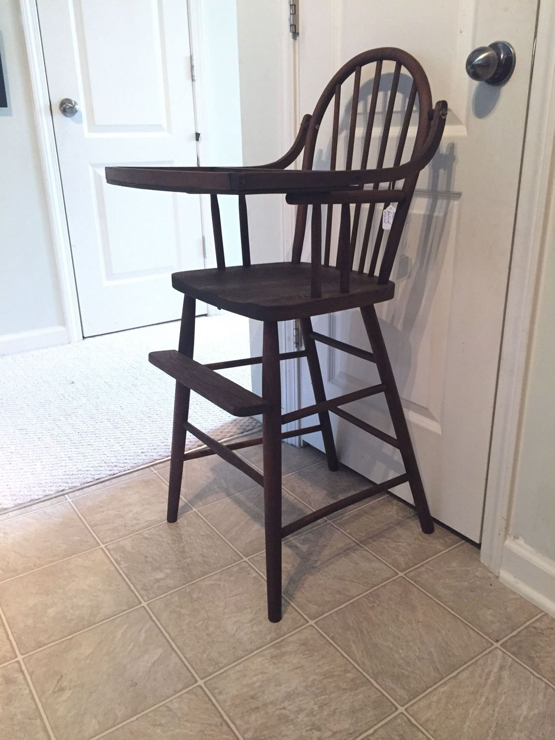 Vintage wooden high chair - Late 1800 S High Chair Vintage Wooden High Chair Jenny Lind Antique High Chair
