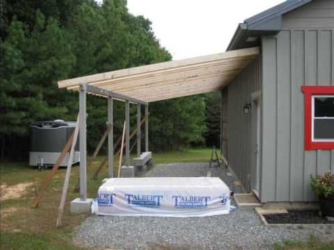 Design Of A Roof Addition Over An Existing Concrete Patio In Bozeman Mt Part 1 Youtube Lean To Concrete Patio Diy Pole Barn
