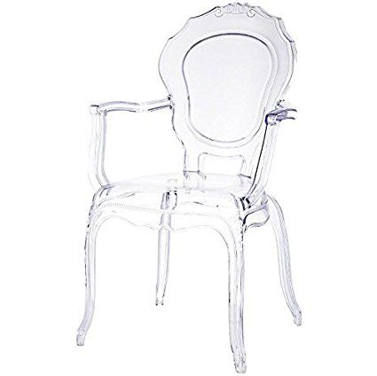2xhome   Belle Style Ghost Chair Ghost Armchair Dining Room Chair   Clear  Armchair Lounge Chair