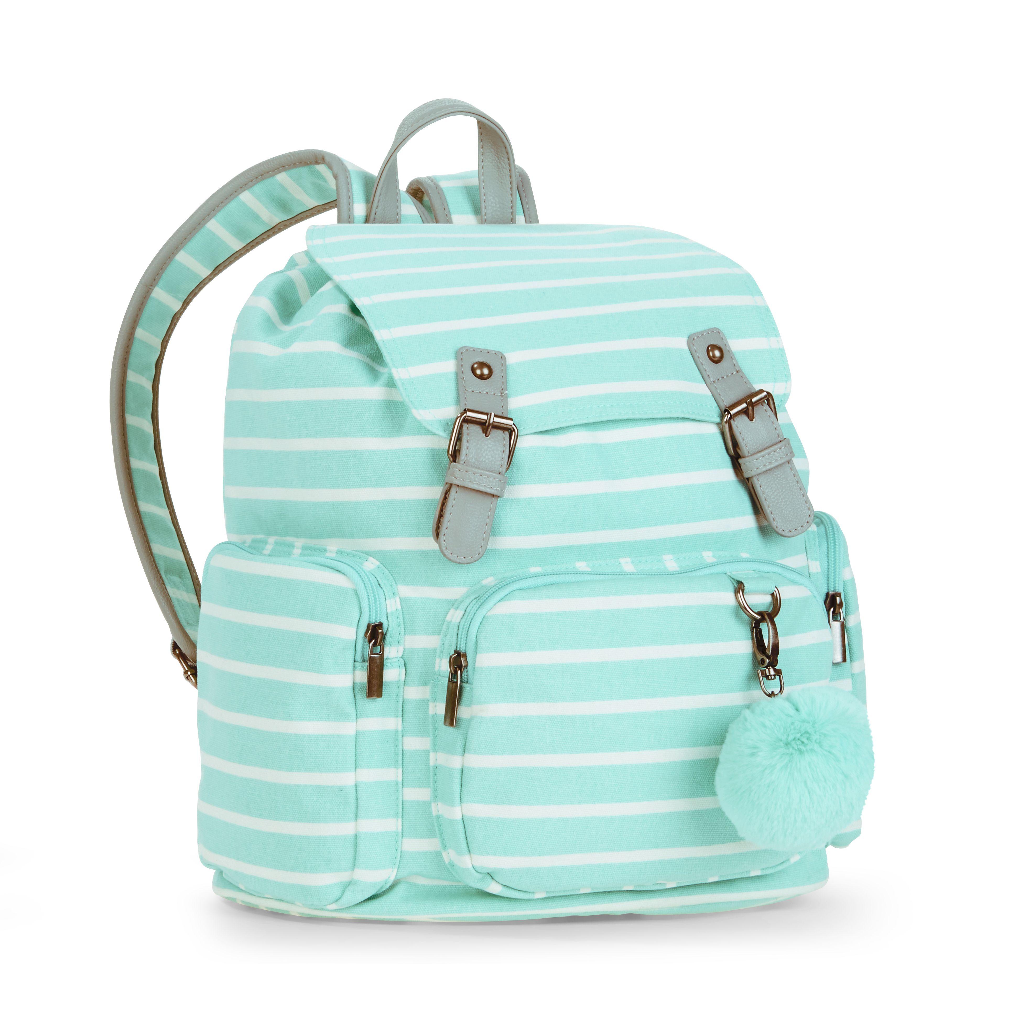 No Boundaries Mint Stripe Cargo Backpack - Walmart.com | Accessories ...