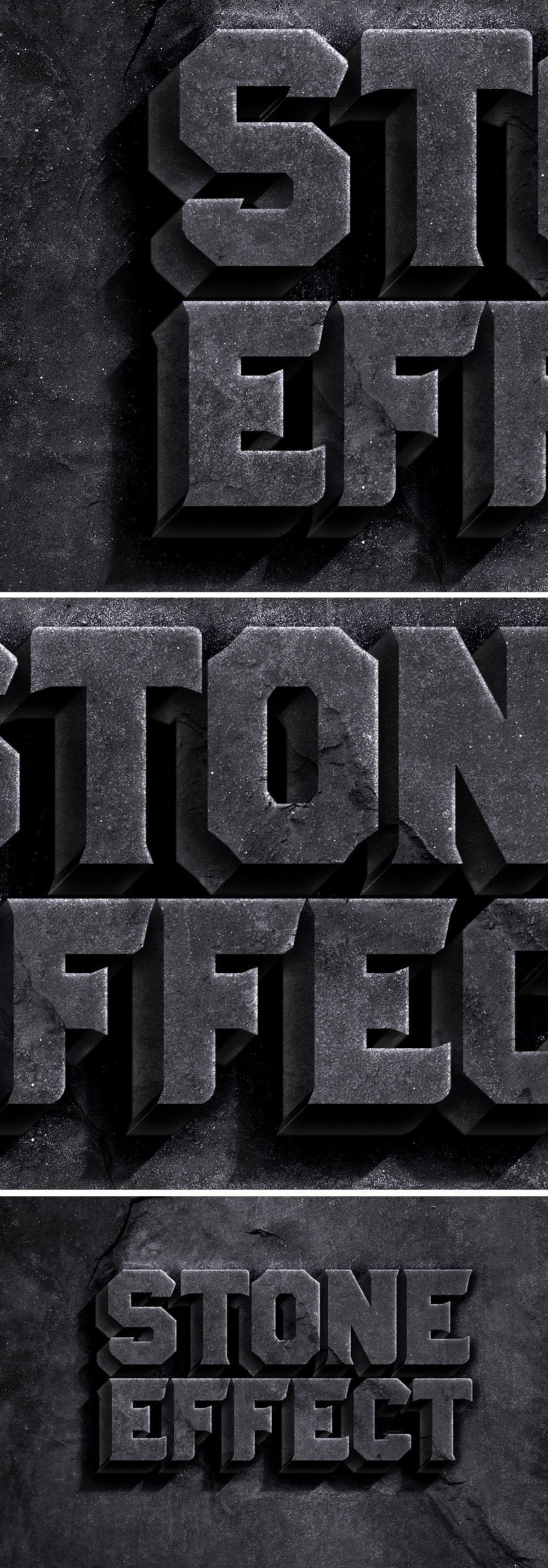 Mysterious poster design with 3d text - Free Rock Text Effect Psd 63 1 Mb Free Psd Photoshop