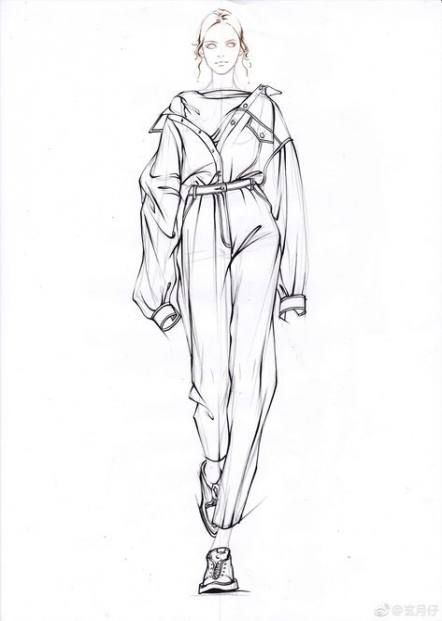 Photo of fashion sketches