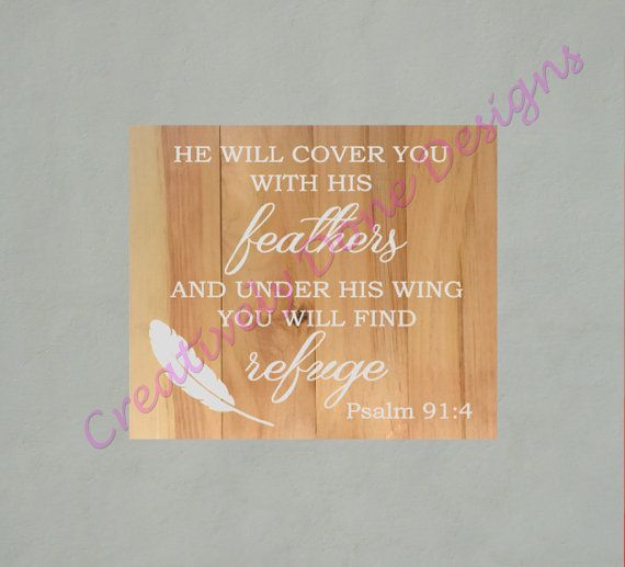 Diy he will cover you with his feathers wood sign kit free diy he will cover you with his feathers wood sign kit free shipping paint solutioingenieria Image collections