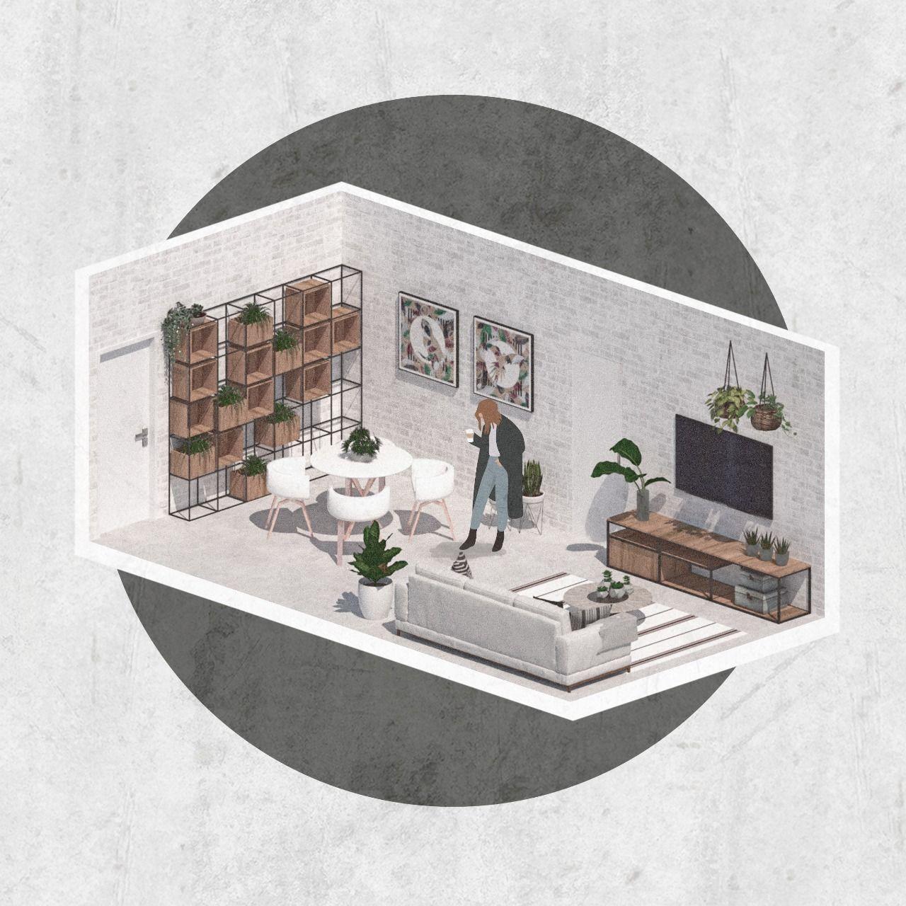 Apartamento Isométrica - Lauralee