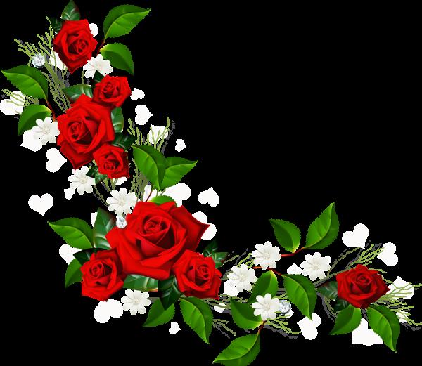 Decorative Rose Clipart Rose Clipart Flower Frame Png Flower Border Png