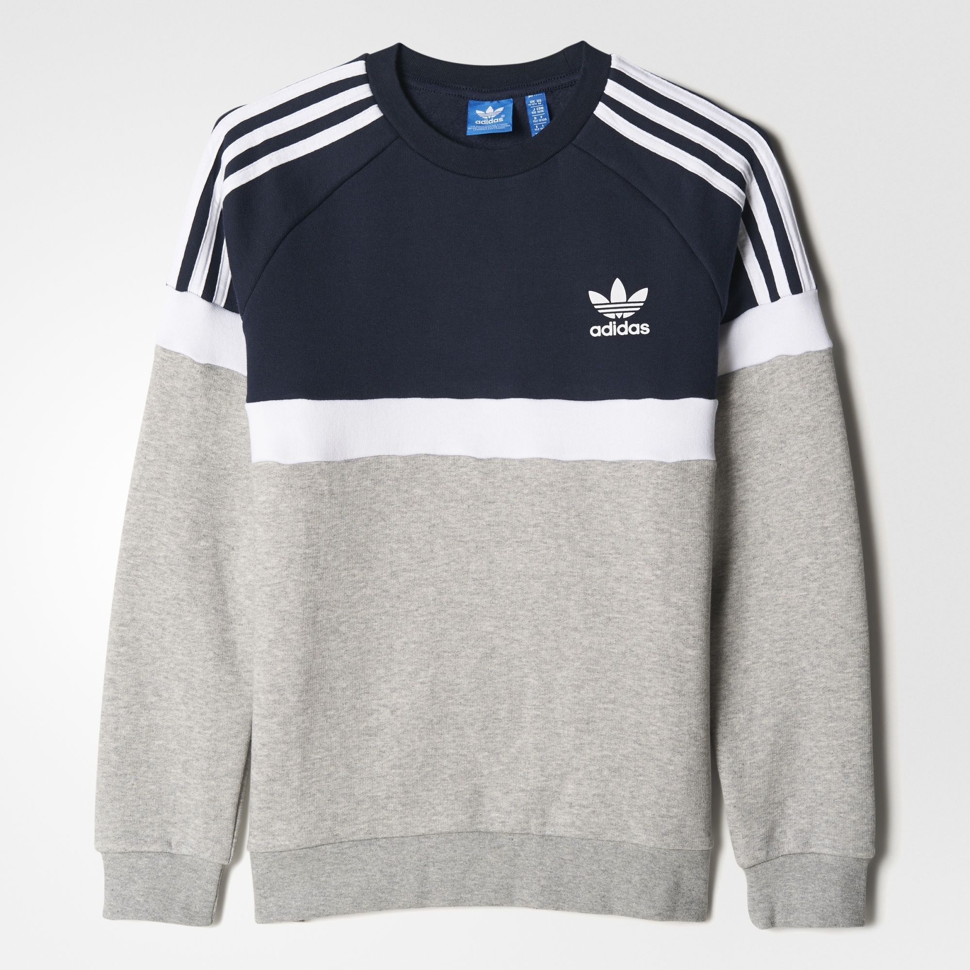 Vintage Adidas Sweatshirt GreyNavy XS | Vintage adidas