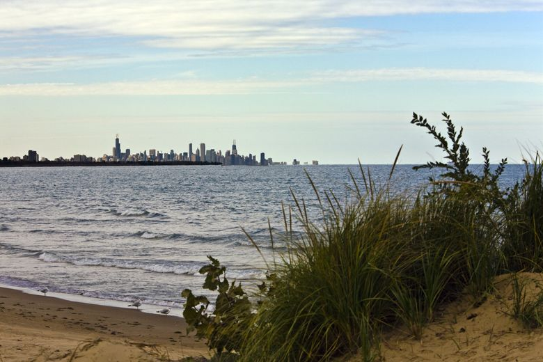 Lake Michigan And Chicago Skyline