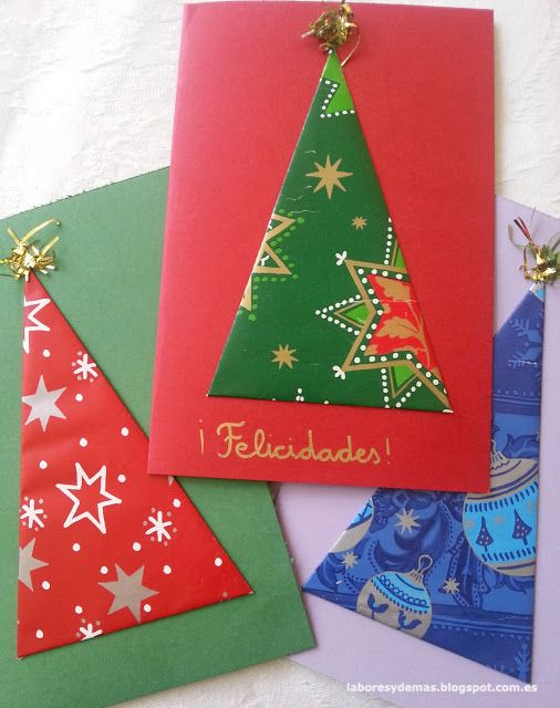 Labores y demás Otra tarjeta para felicitar la Navidad