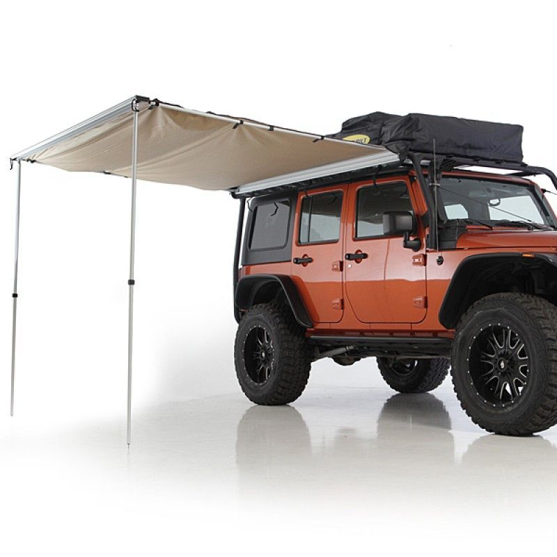 Smittybilt Overlander Tent Awning 8 2 X 6 2 Jeep Camping Camping Accessories Motorcycle Camping Gear