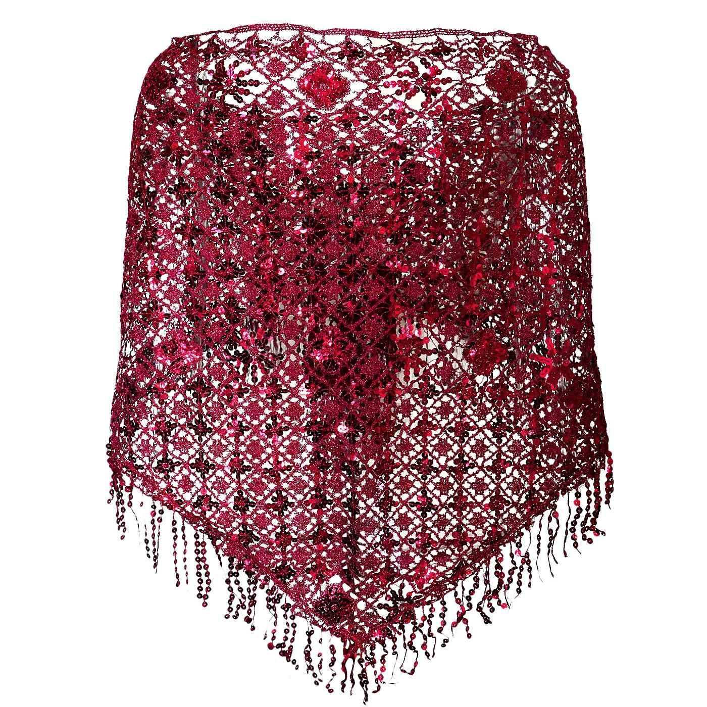 Lvow Womens Glittering 1920s Shawl Wraps Sequin Beaded Evening Cape Flapper Bolero Scarves & Wraps Wraps & Pashminas