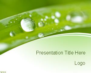 Free Nature Conservation Powerpoint Template Is A Green