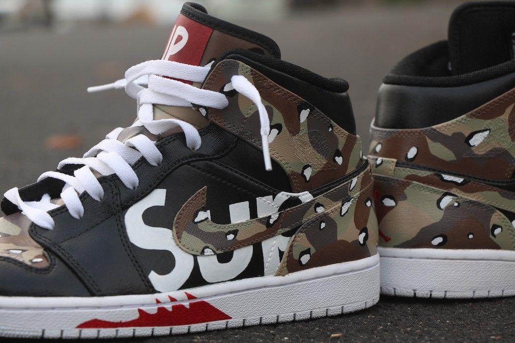 """Air Jordan 1 Retro """"Supreme"""" Custom by"""